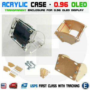 Transparent Shell Acrylic Case For 128x64 0 96 Inch Oled Lcd Led Display Module