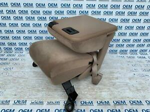 99 00 01 02 03 04 05 06 07 Ford F250 Center Console Jump Seat Cloth Tan Oem