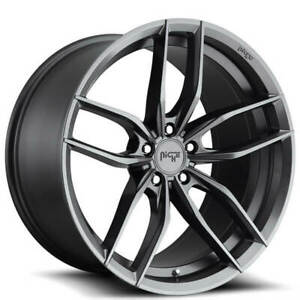 4 18 Staggered Niche Wheels M204 Vosso Matte Anthracite Rims b41