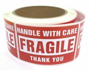 100 2 X 3 Fragile Stickers Hand With Care Shipping Mailing Labels