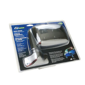 K Source Fit Systems 3671 Universal Truck Side View Mirrors Chrome Euro Style Mi