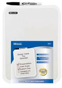 Bazic 8 5 X 11 Small Dry Erase White Board With Marker Note Study Class Student