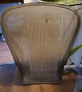 Herman Miller Aeron Chair Grey Gray Light Graphite Seat Back Mesh Size C Large