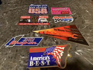 New Vintage Snap on Tools Lot Of 7 Tool Box Stickers Decals Man Cave Bumper