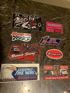 New Vintage Snap On Tools Lot Of 8 Tool Box Stickers Decals Man Cave Bumper