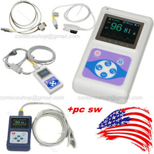 Handheld Spo2 Oximeter Blood Oxygen Pulse Heart Rate Monitor Adult Infant Vet