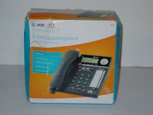 At t 993 2 line Corded Phone W caller Id Brand New