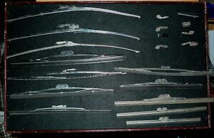 Lot Of 12 Vintage Used Nos Anco Trico Wiper Blades And Some Clips 8 15