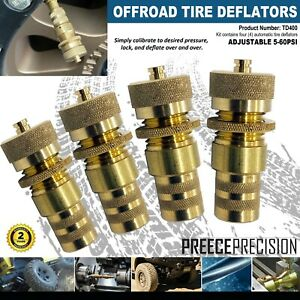 Off Road Jeep Tire Deflators Two Sets Of 4 Total Of 8 Pieces