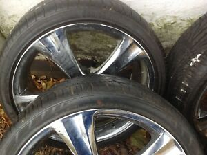 Boss Motorsports 20 Inch Chrome Wheels And Hankook Tires In Excellent Condition