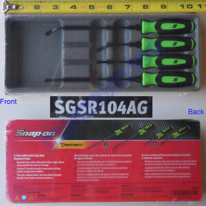 New Snap On Green 4 Piece Mini Soft Grip Seal Removal Set Sgsr104ag