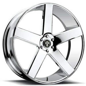 4 22x8 5 Dub Wheels Baller S115 Chrome Rims b44