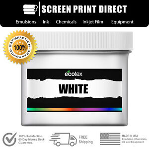 Ecotex White Premium Plastisol Ink For Screen Printing Silk Screen Pint