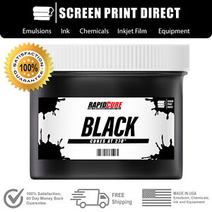 Black Screen Printing Plastisol Ink Low Temp Cure 270f 8oz