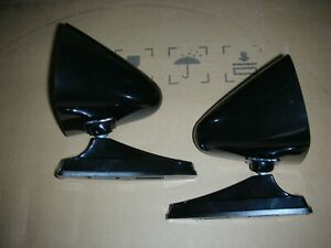 Black Sport Bullet Door Mirrors Classic Musclecar Vintage Universal Pair New