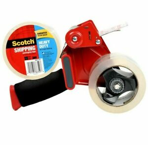 Scotch Heavy Duty Shipping Packaging Tape With 2 Rolls Tape Gun Dispenser