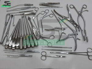 Laminectomy Set 35 Pcs With Stainless Steel Box Surgical Orthopedics Instruments