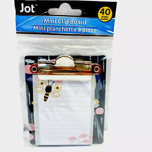 Jot Butterfly Mini Clipboard With Notepad 40 Sheets 3 25 X 3 50