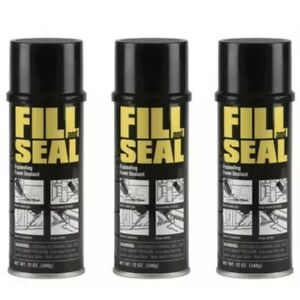 3 Cans Fill And Seal Expanding Foam Sealant Insulation 12 Oz Cans 3 Pack New