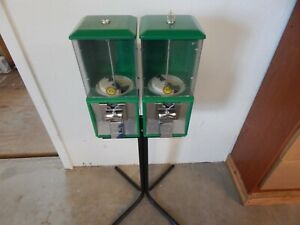 2 Northwestern Model 60 Gumball Candy Vending Machines With Stand