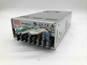 Mean Well Sp 200 12 Ac dc Power Supply Single out 12v 16 7a