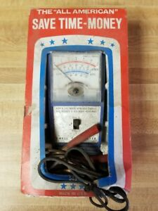 Vintage The All American Model 549 Dwell Tachometer