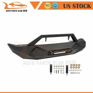 Steel Front Bumper For Jeep Wrangler Jk 07 18 Black Textured Guard Pickup