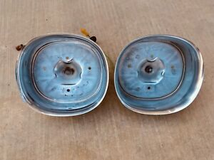1959 Cadillac Stainless Taillight Housing Inserts Deville Fleetwood Eldorado 59