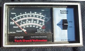 Sears Solid State Electronic Tach Dwell Voltmeter Made In Usa Tested It Works