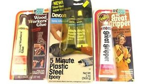 3 Vintage Adhesives epoxy Ross Devcon New Old Stock