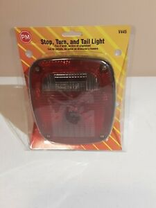 Peterson V445 Universal 3 Stud Combination Tail Light Kit Red New
