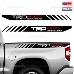 Trd 4x4 Off Road Decals Bedside Toyota Tundra Truck Vinyl Stickers Graphic 2p