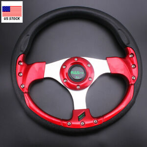 Us 12 315mm Universal Drifting Racing Sport Lightweight Steering Wheel Red