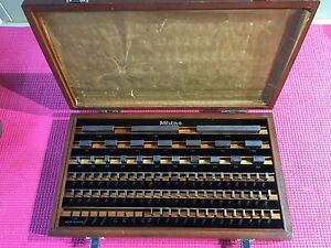 Mitutoyo 81 Pc Gage Block Set Be1 81 2 Grade 2 516 902 Machinist Tools