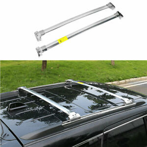 Silver Steel Top Roof Cargo Rack Cross Bars 2pcs For 2011 20 Jeep Grand Cherokee