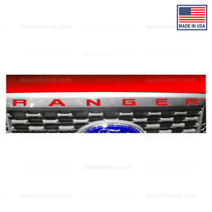 Ford 2019 2020 Ranger Grille Inserts Decals Letters Indent Stickers Vinyl N