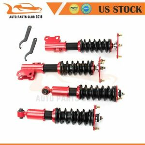 Coilovers Struts For Mitsubishi 3000gt Fwd 91 99 Adj Height Suspension Springs