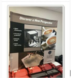 Trade Show Table Top Display Booth Pop Up W carrying Case