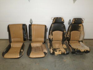87 Trans Am Gta Tan Leather Power Lumbar Seats Set 88 89 Firebird Air Bladder 6
