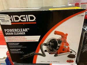 New Ridgid Powerclear Drain Cleaner Clears 3 4 1 1 2 Drain Lines Up To 25