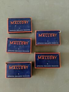 Lot Of 25 Mallory Vintage Nos Capacitors 08uf 400v 5 Boxes Of 5
