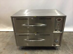 Wells Rw 2hd Stainless 2 drawer Freestanding Food Warmer Cabinet 120v 1ph 7 5a