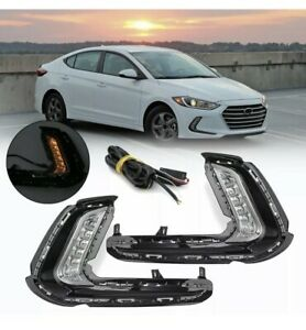 For Hyundai Elantra 2017 2018 Drl Daytime Running Light Fog Turn Signal Lamp