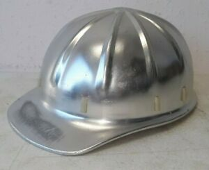 Vintage Apex Aluminum Hard Hat With Liner Great Shape