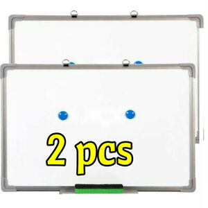 2 X Magnetic Whiteboard Dry Erase White Board Wall Hanging Board 16 X 24 Inch