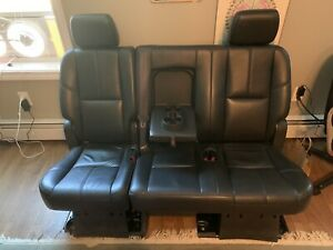 Read Pick Up Only 2007 2014 Suburban Yukon Xl 2nd Row Black Leather Bench Seat