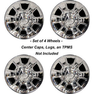 New Set Of 4 18 Chrome Wheels Rims For Gmc Sierra 1500 Yukon 6 Lug Denali 5648