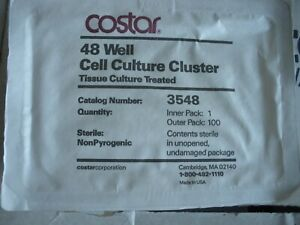 Lot Of 48 Costar 3548 Tc Plates 48 Well Tissue Cell Culture Cluster