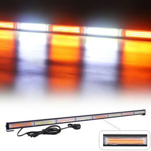 Cob Led Traffic Advisor Emergency Amber White Strobe Light Bar For Tow Truck 45