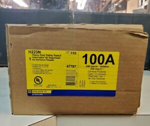 H223n 100amp 240 Volt 2 Phased Fused Heavy Duty Disconnect